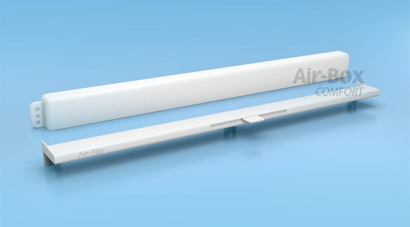 Оконный приточный клапан Air-Box Comfort с козырьком